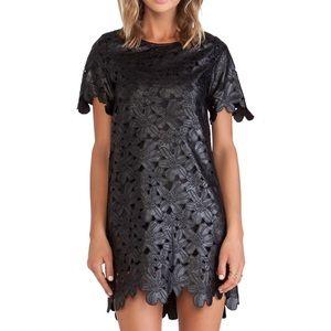 JOA Los Angeles Cutout Faux Leather dress